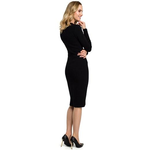 Sukienka Moe ołówkowa Odzież Damska ZU czarny QMDN
