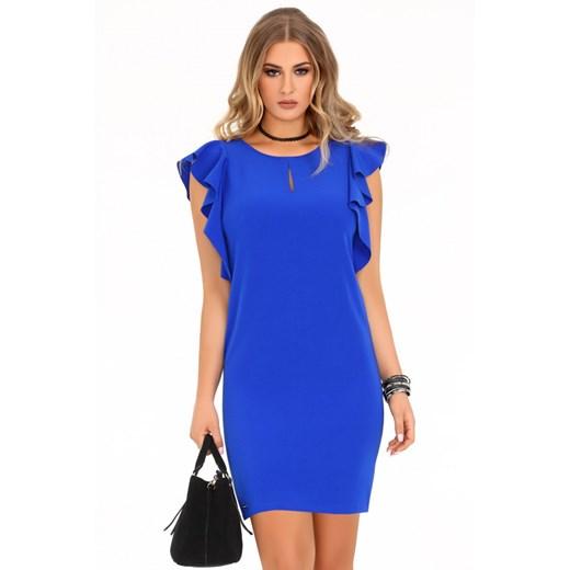 Sukienka Merribel z okrągłym dekoltem Odzież Damska GZ niebieski NPDD