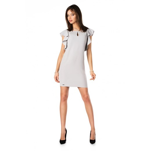 Sukienka Merribel bez wzorów na urodziny Odzież Damska BS szary TDKH