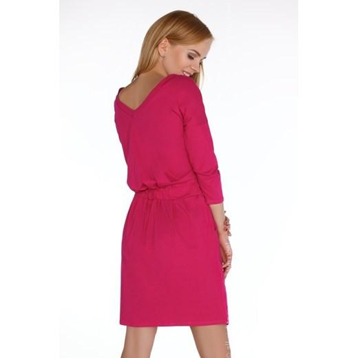 Sukienka Merribel z elastanu z dekoltem w serek mini Odzież Damska VF czerwony HUKP