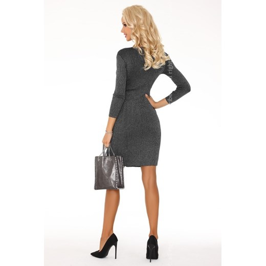 Sukienka Merribel bawełniana Odzież Damska XS szary HBIB