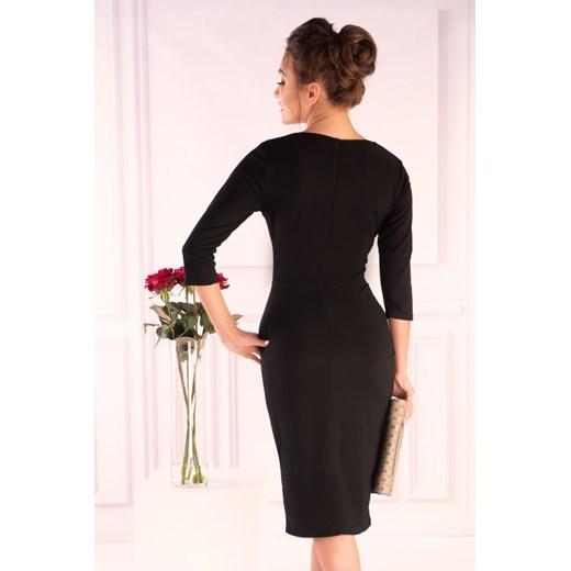 Sukienka Merribel bez wzorów Odzież Damska WZ czarny PACI