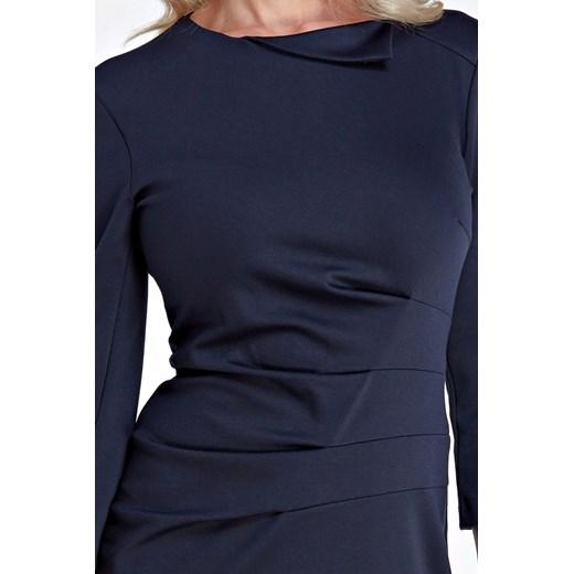 Sukienka Colett z wiskozy z okrągłym dekoltem Odzież Damska PP czarny UODV