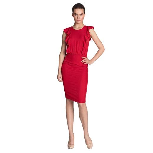 Sukienka Nife Odzież Damska DR czerwony YKAM