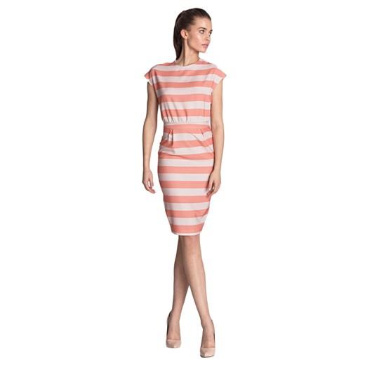 Sukienka Nife z okrągłym dekoltem ołówkowa midi Odzież Damska EU wielokolorowy PHTA