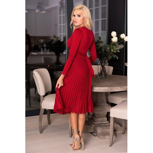 Sukienka Merribel bawełniana Odzież Damska YN czerwony ZNFJ