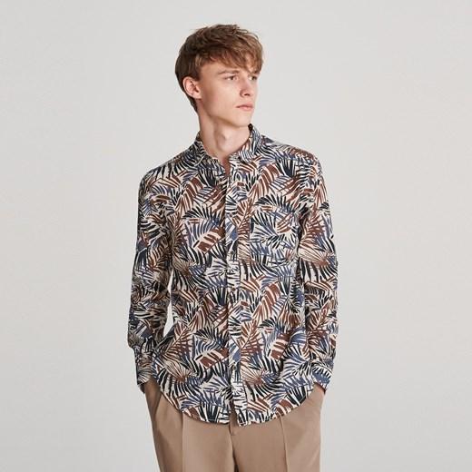 Koszula męska Reserved z długim rękawem na jesień w Domodi  k9nUK
