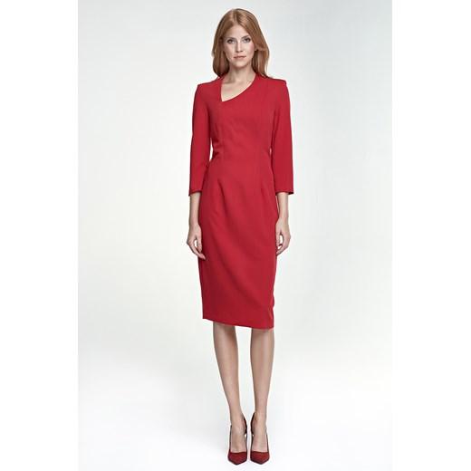 Sukienka Nife Odzież Damska HZ czerwony YLNS
