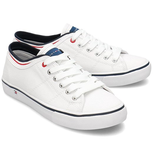 Tommy Hilfiger Low Cut Lace-Up - Trampki Dziecięce - T3B4-30694-0034100 WHITE 35-38  Tommy Hilfiger 36 MIVO