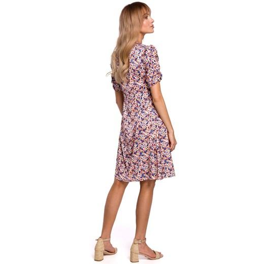 Sukienka Moe na wiosnę Odzież Damska KX wielokolorowy INEU