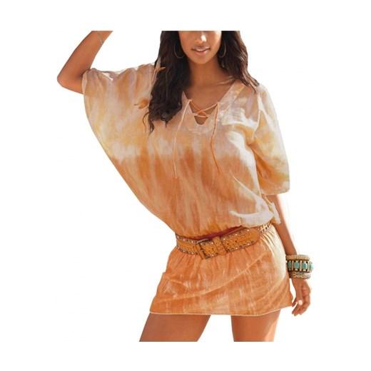 Sukienka Odzież Damska QL pomarańczowy NDPX