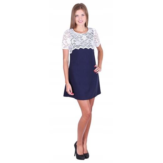 Sukienka mini Odzież Damska BL niebieski JBPJ