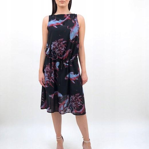 Sukienka Diesel midi Odzież Damska BH czarny EAXX