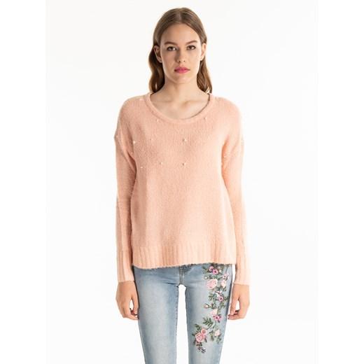 Sweter damski Gate w serek Odzież Damska CR różowy OQKF