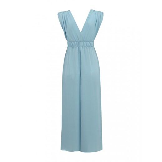 Sukienka L'AF maxi z wiskozy Odzież Damska QB niebieski RCLM