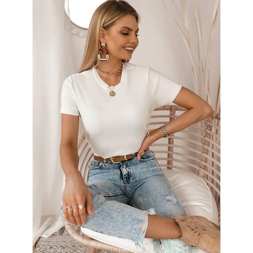 Bluzka damska Selfieroom z krótkimi rękawami bawełniana sgqaQ