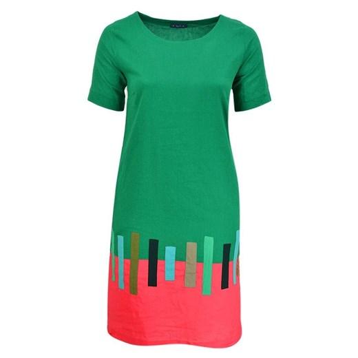 Sukienka P A T A mini bombka Odzież Damska UB zielony RIWX