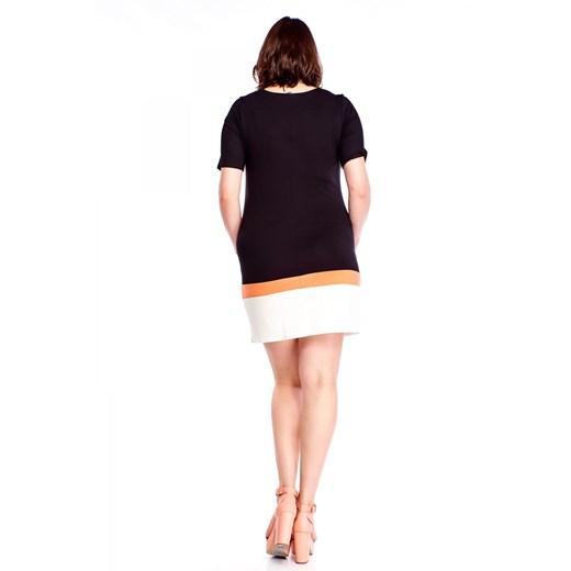 Sukienka Omnido mini z krótkim rękawem Odzież Damska DM czarny VYKD