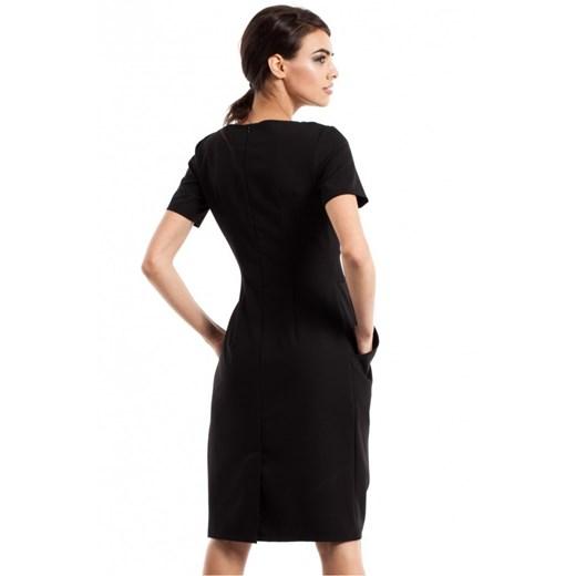 Sukienka Moe gładka w serek K5PM4