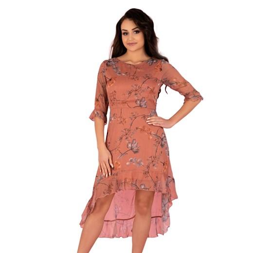 Sukienka Merribel w kwiaty Odzież Damska GM pomarańczowy YZZO
