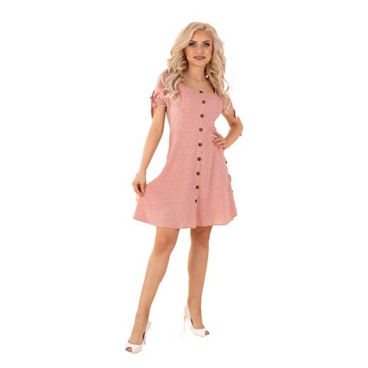 Sukienka Merribel na uczelnię Odzież Damska AL różowy IQOO