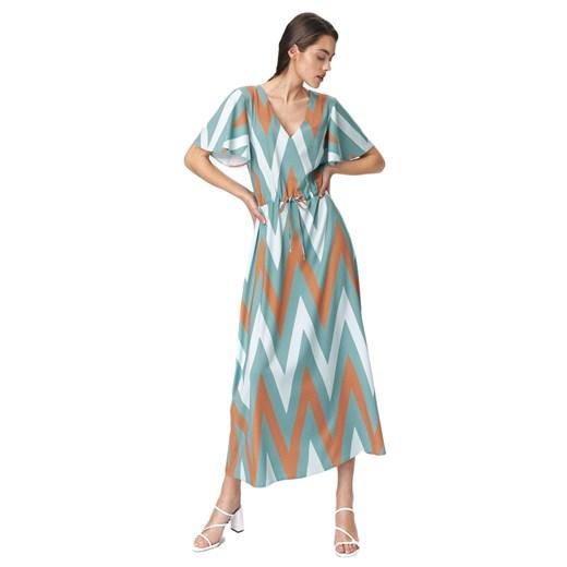 Sukienka Nife w paski Odzież Damska BZ wielokolorowy JMDL