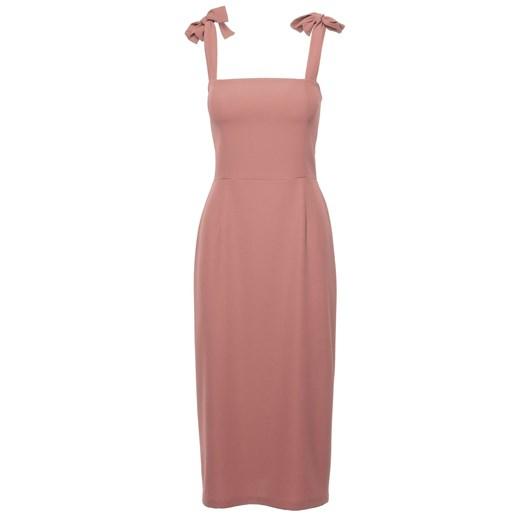 Sukienka Makover z tkaniny midi Odzież Damska AT różowy VSUU