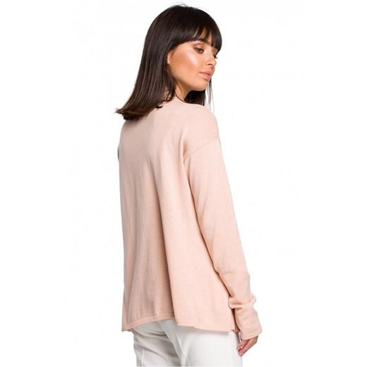 Sweter damski Be Knit z dekoltem v casual Odzież Damska GZ beżowy IXUD