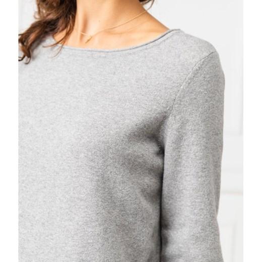 Sweter damski Marc O'Polo gładki z okrągłym dekoltem Odzież Damska OQ szary CEFF
