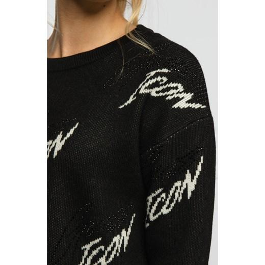 Sweter damski Guess z okrągłym dekoltem Odzież Damska AJ czarny DFKE