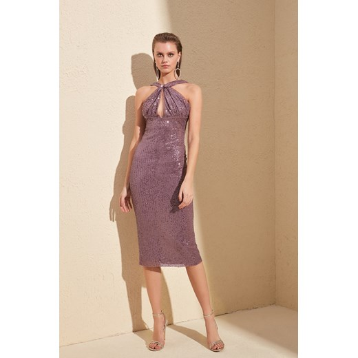 Trendyol Rose Dry Neck Cleavage Payet Dress Trendyol 34 Factcool