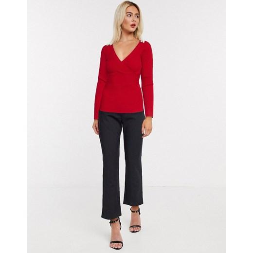 Sweter damski Morgan Odzież Damska TX czerwony SKMM