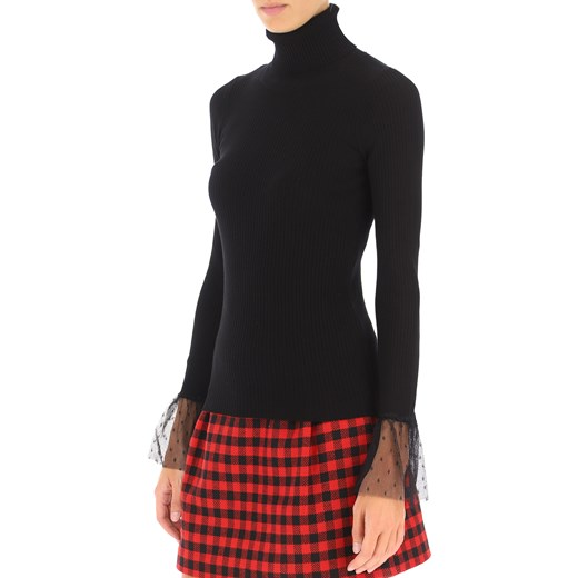 RED Valentino Sweter dla Kobiet, czarny, Wiskoza, 2019, 38 40 44 M RAFFAELLO NETWORK Odzież Damska ZG czarny BKES