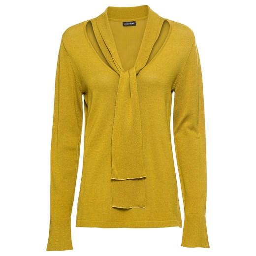 Sweter damski Bonprix Odzież Damska PU żółty EHZN