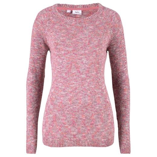 Sweter damski Bonprix Odzież Damska UD różowy YHSI