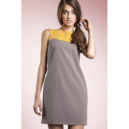 Sukienka Nife bez rękawów Odzież Damska HF szary YUQA