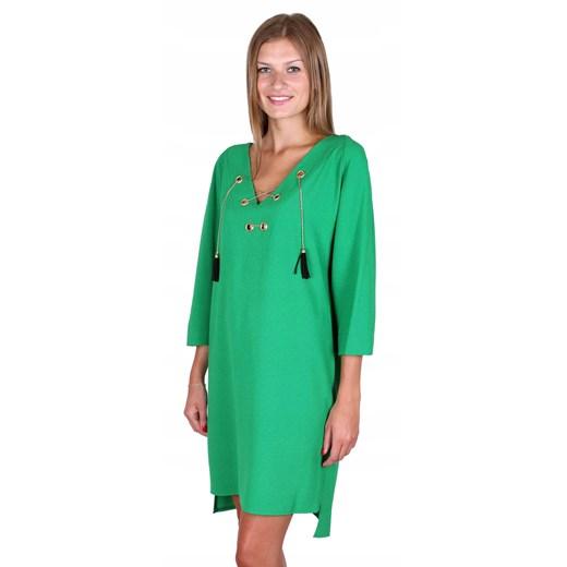 Sukienka mini Odzież Damska HA zielony BFPB