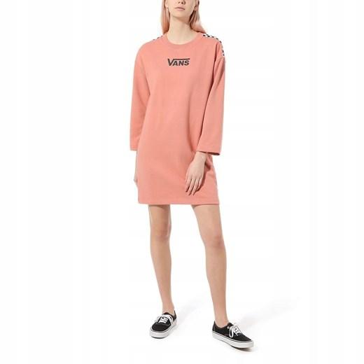 Sukienka Vans mini z długimi rękawami Odzież Damska BF różowy UQKF