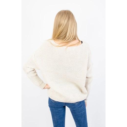 Sweter damski Olika Odzież Damska HD beżowy WHKG