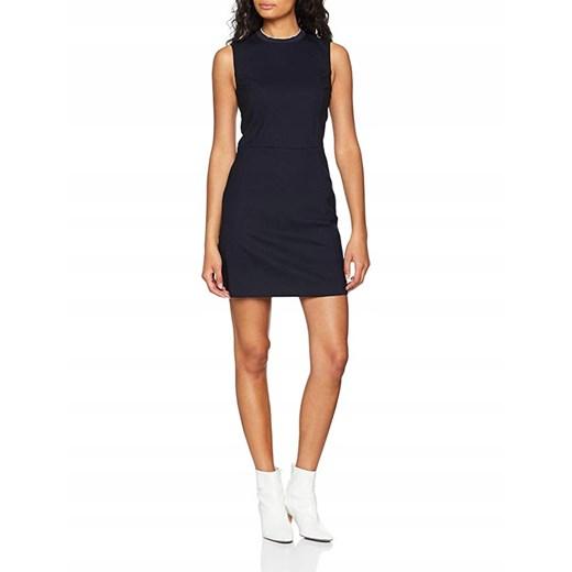 Sukienka z okrągłym dekoltem bez rękawów Odzież Damska KN czarny HMDP
