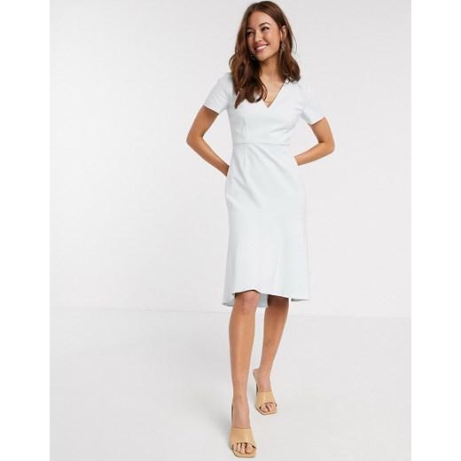 Sukienka French Connection Odzież Damska BI biały CXWQ