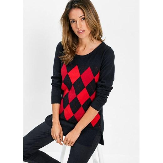 Sweter damski Bonprix z okrągłym dekoltem Odzież Damska WJ EUCL