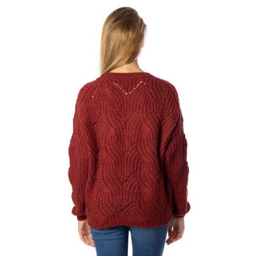 Sweter damski ONLY z okrągłym dekoltem Odzież Damska SS czerwony BDQE