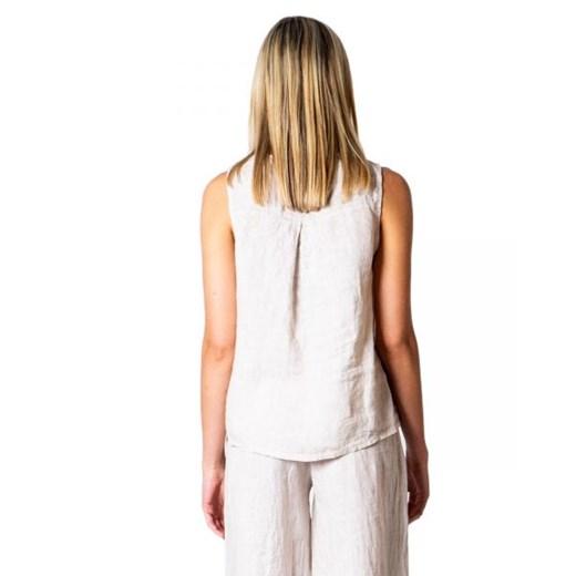 Sweter damski Ak z okrągłym dekoltem bez wzorów Odzież Damska SA biały RDMV