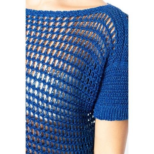 Sweter damski Ak letni z wiskozy Odzież Damska KX niebieski JGEK