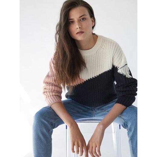 Sweter damski beżowy Sinsay Odzież Damska XO beżowy ZVYK