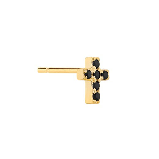 Kolczyk Mix and Match Cross Black Gold Selfie Store Selfie Store