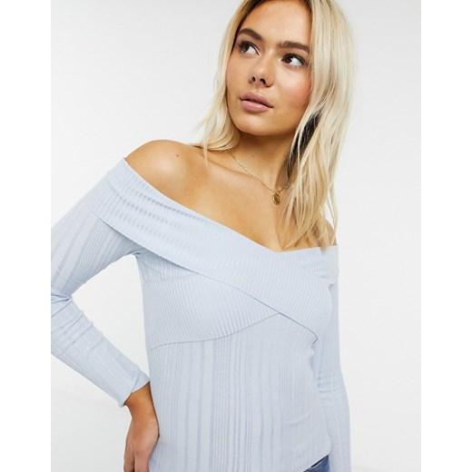 Niebieski sweter damski Miss Selfridge Odzież Damska XQ niebieski WYTA