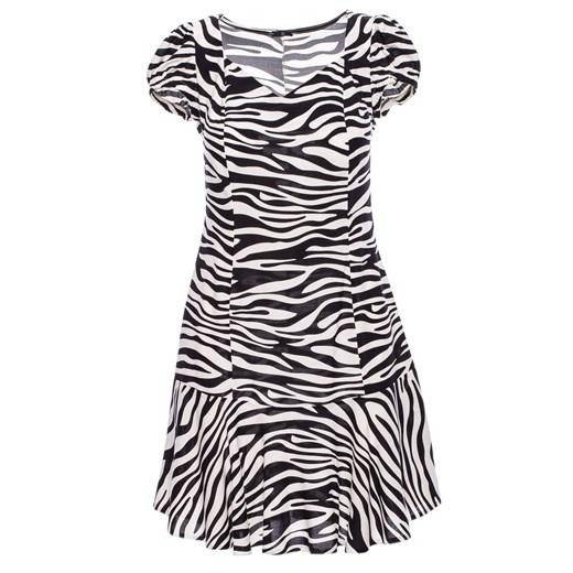 Sukienka Be mini z krótkim rękawem na lato Odzież Damska UG wielokolorowy BCGR