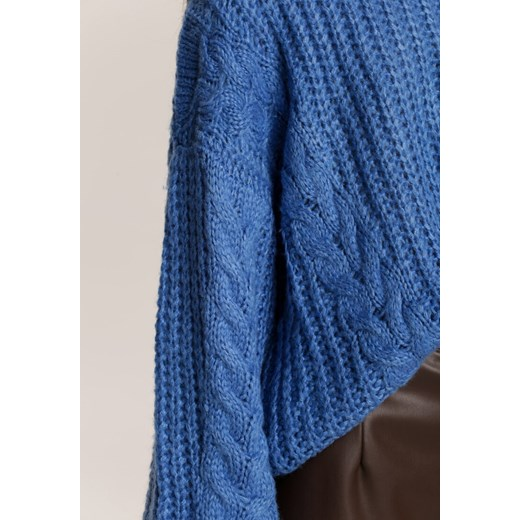Sweter damski Renee z okrągłym dekoltem Odzież Damska IY niebieski NTKA